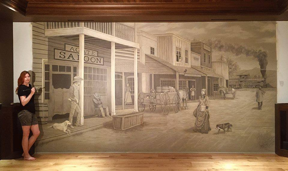 Old West Town Mural