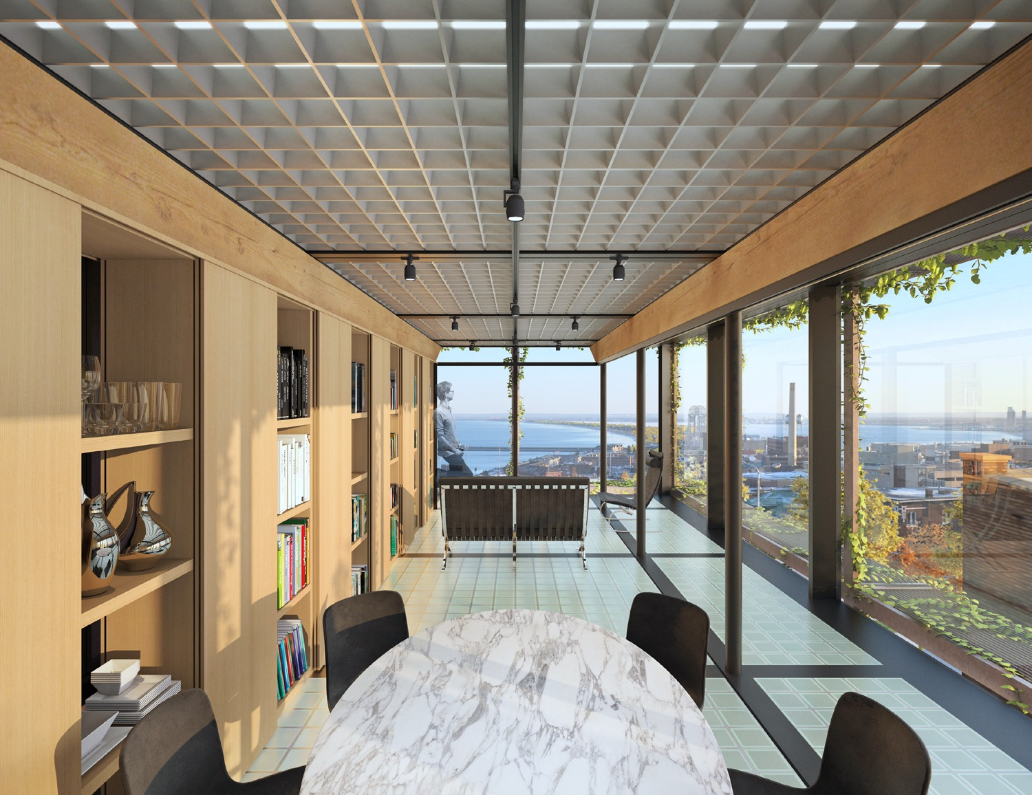 MH House_Carly Coulson Architect_Rendering Third Floor Interior
