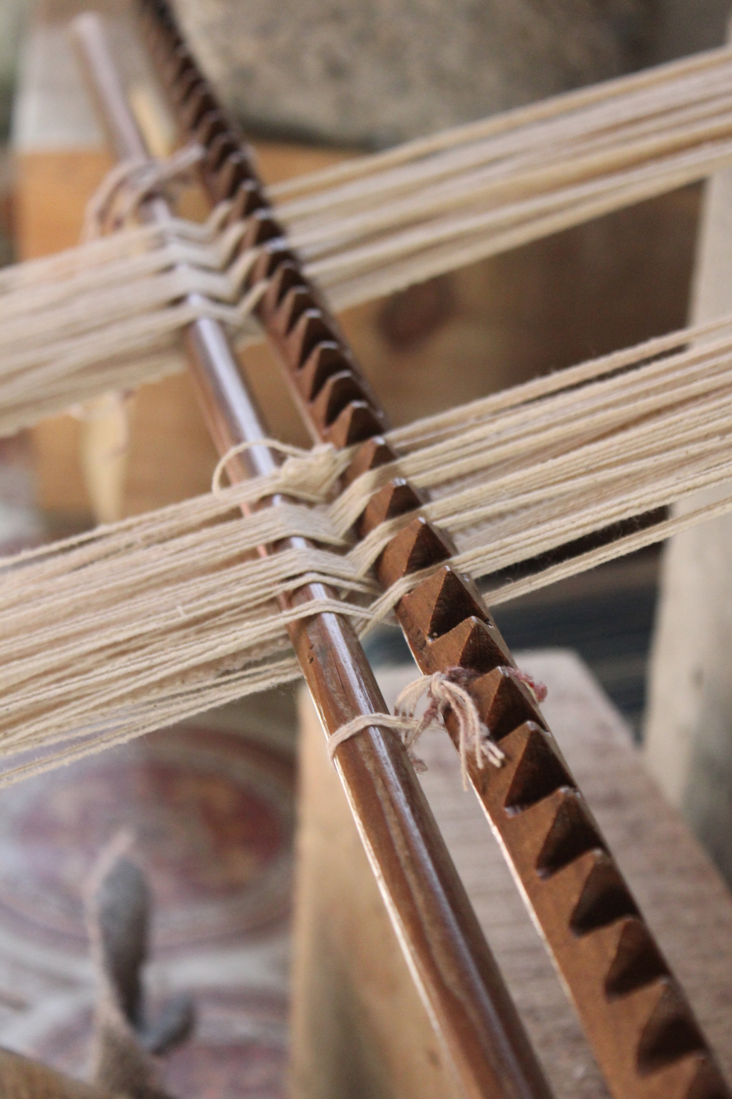 Nepalese back strap loom hand made of local wood