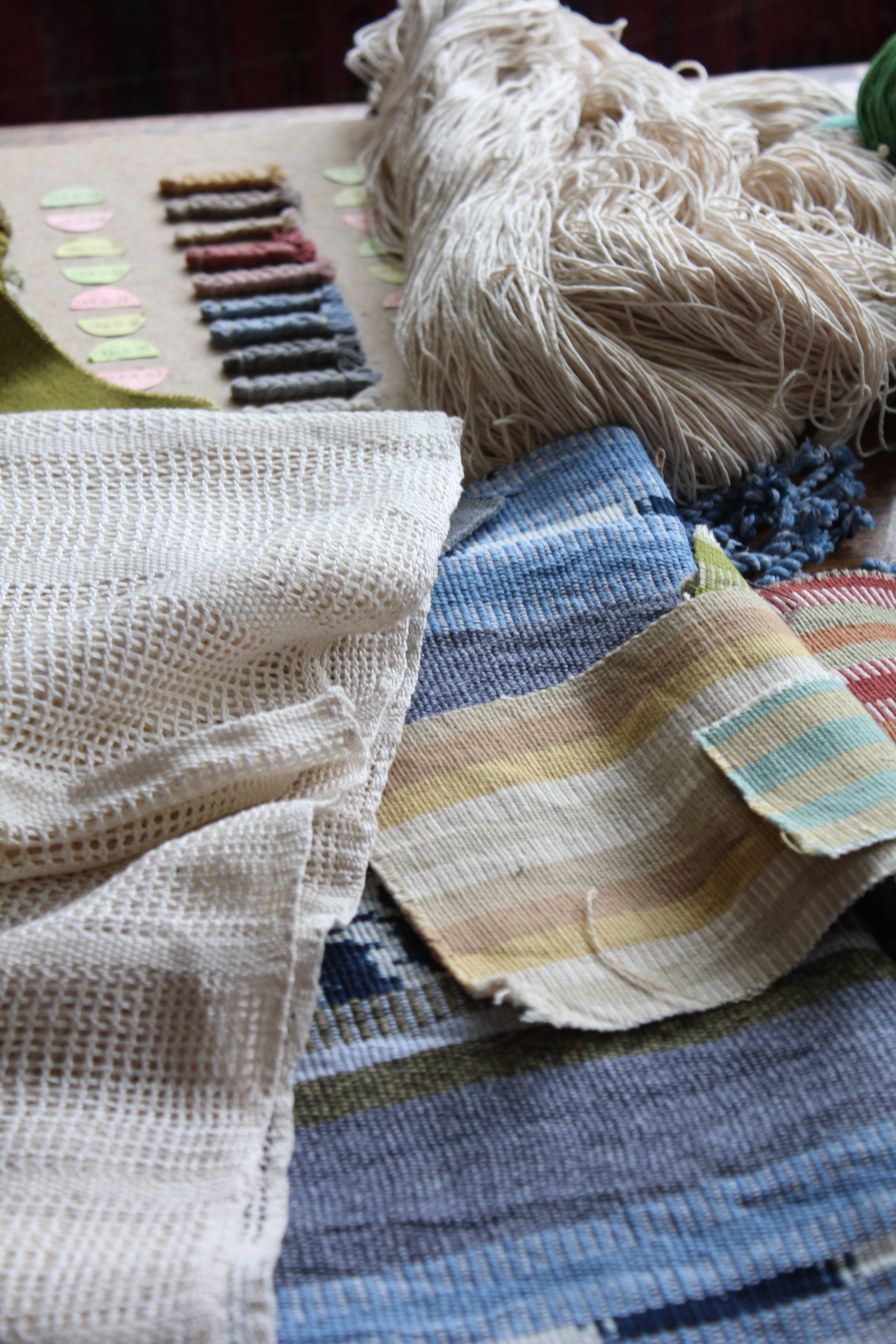 Fabrics created by Living Threads Co. partners in Guatemala on mayan backstrap loom