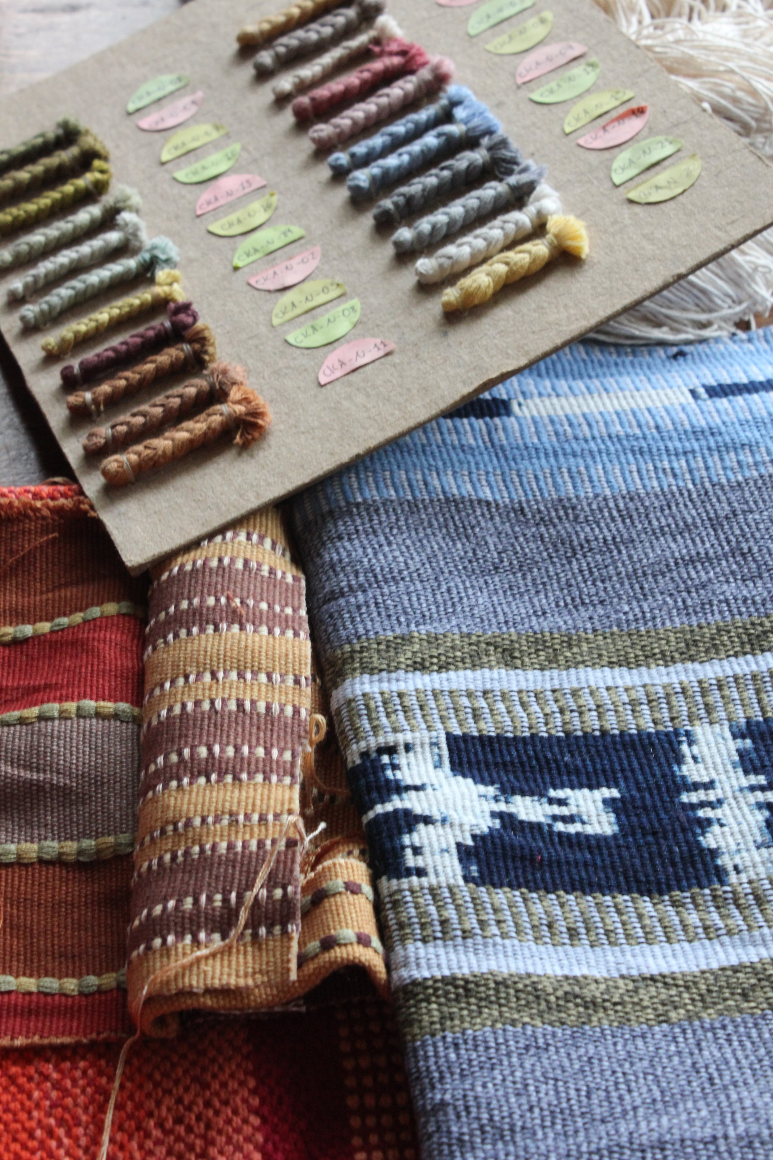 Cotton fabric handwoven in Guatemala after naturally dyed