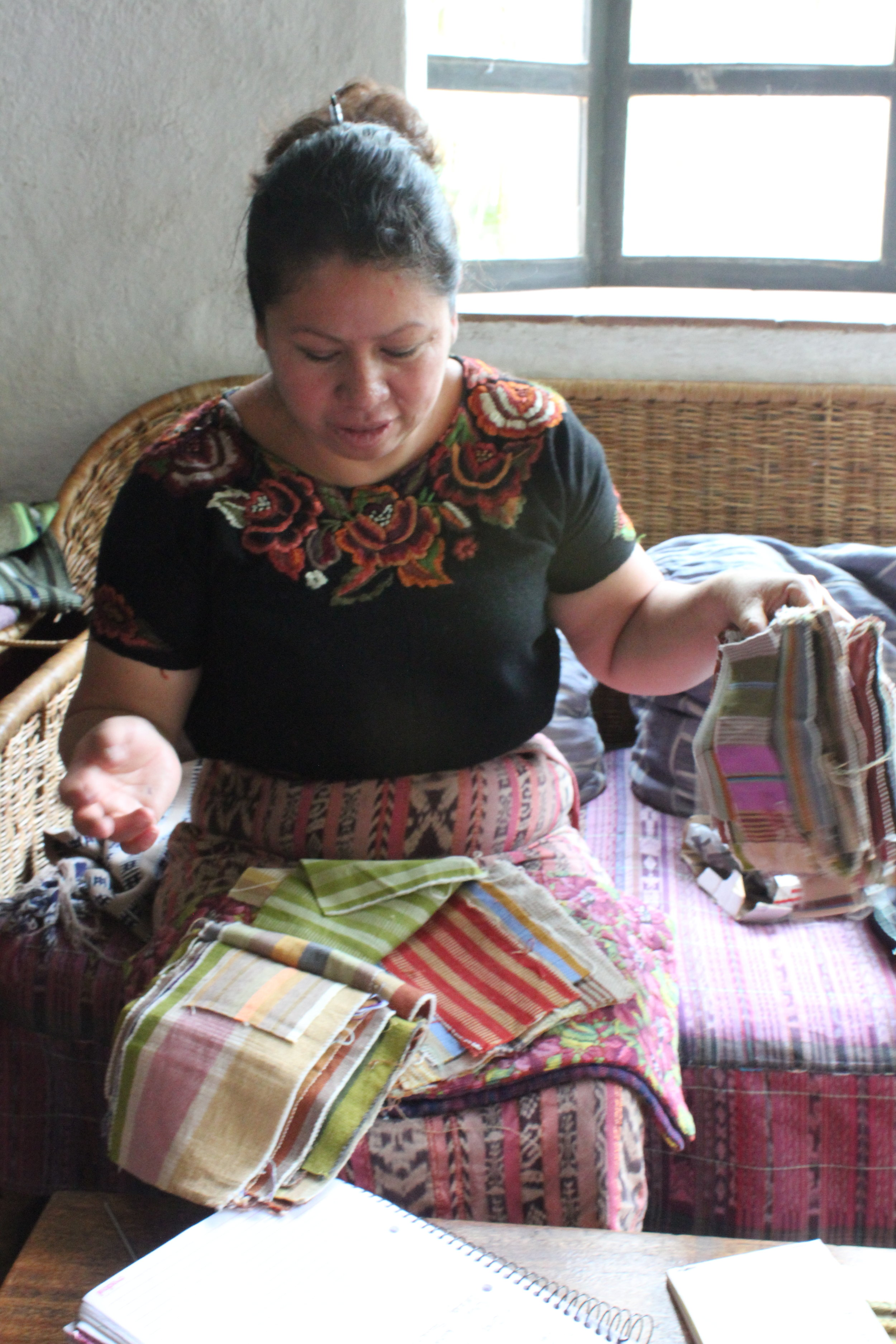 Natural Dye colors and sources used on cotton in Guatemala by Living Threads Co. partner artisans