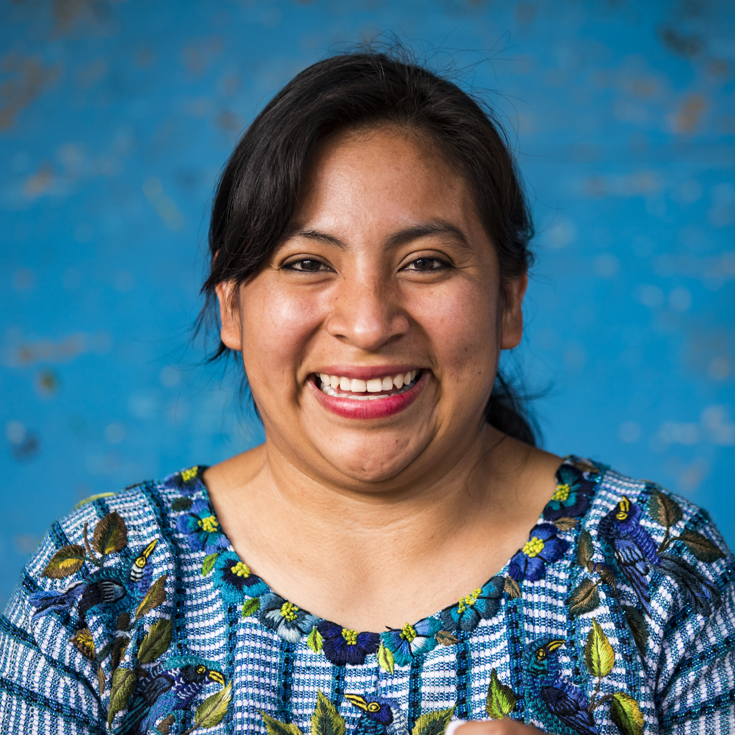 Ana Mesia is a mother of two, a teacher, and a Living Threads Co. artisan from Santiago Atitlan, Guatemala