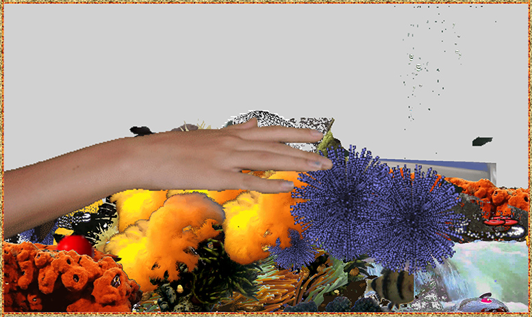 Image: Shannon Marlborough, Touch my hand (in 32 Colors, No Transparency Dither, Adaptive Palette)
