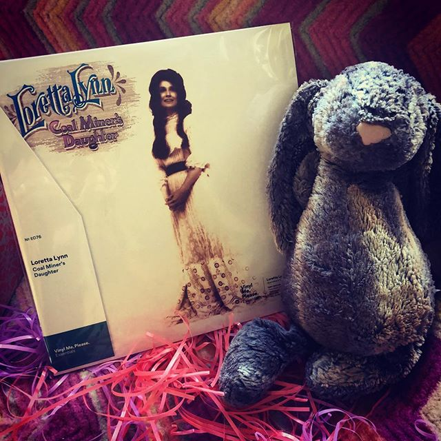 OMG!! Thank you Easter Bunny!! And @vinylmeplease ;). @lorettalynnofficial best album ever - well, save for the one with @officialjackwhitelive #vinylife #makingvinyl