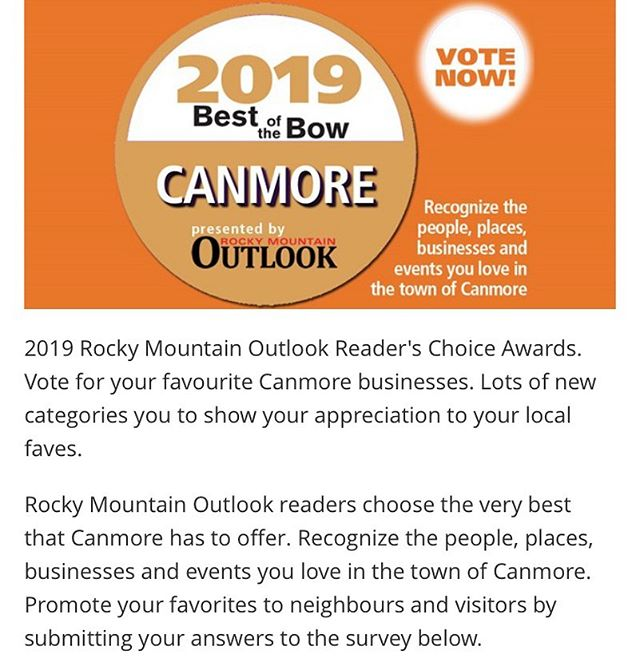 Hey friends! If you're feeling like showing some of your favourite stylists some love, go for for us! 💚🙏💚 https://www.rmotoday.com/contests/canmore-best-of-the-bow-2019-1649853