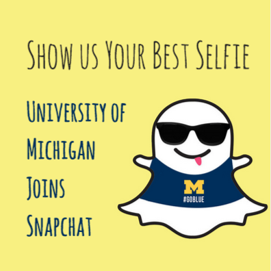 Alexandra Fotis University of Michigan Launches Snapchat