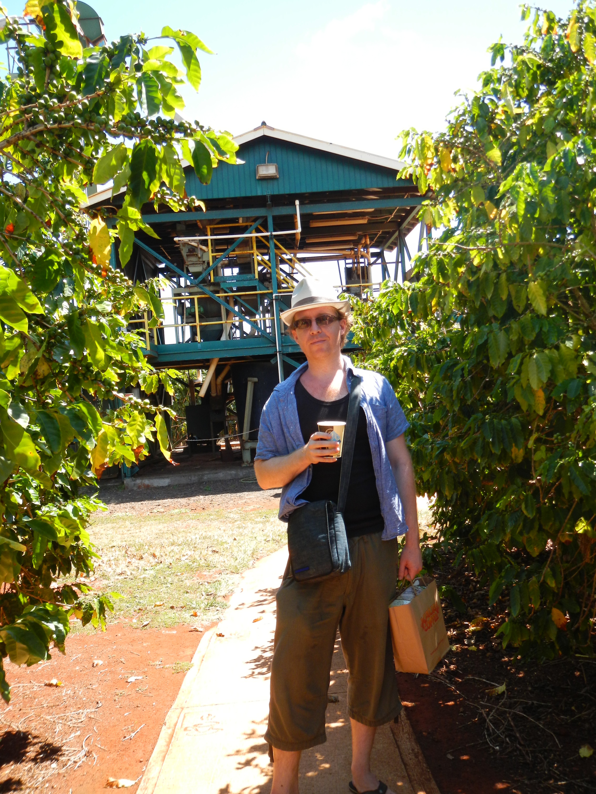Kauai Coffee Plantation. Great coffee but not much caffeine. I mix my Kauai beans with other beans for that morning kick.