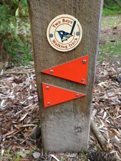 The symbol of the Two Bay Trails... the full 26km hike could be a future hike perhaps?