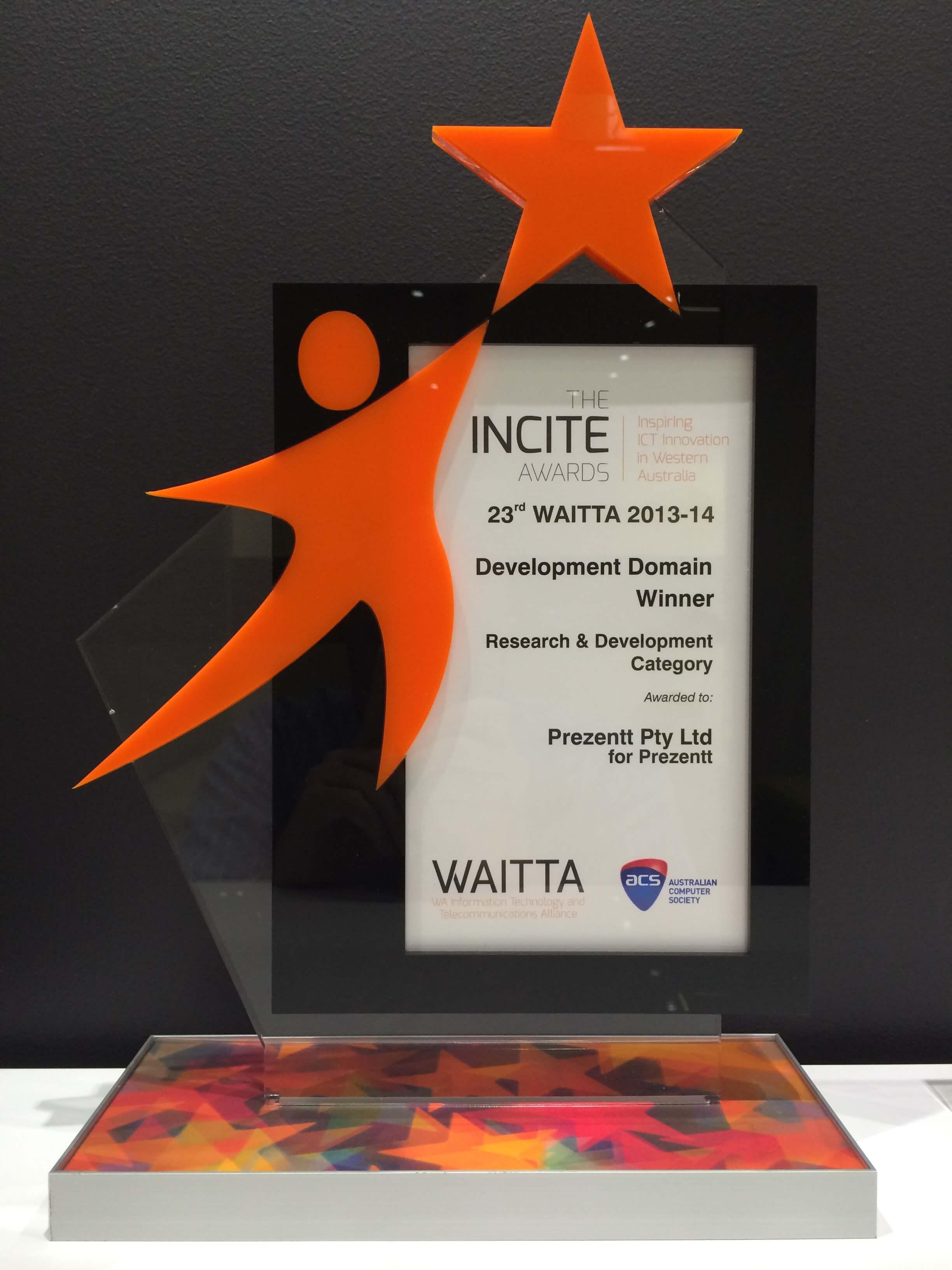 Prezentt - WAITTA INCITE Award - Web App Development