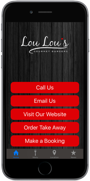 My Restaurant App iPhone/iPad/Android Home Screen