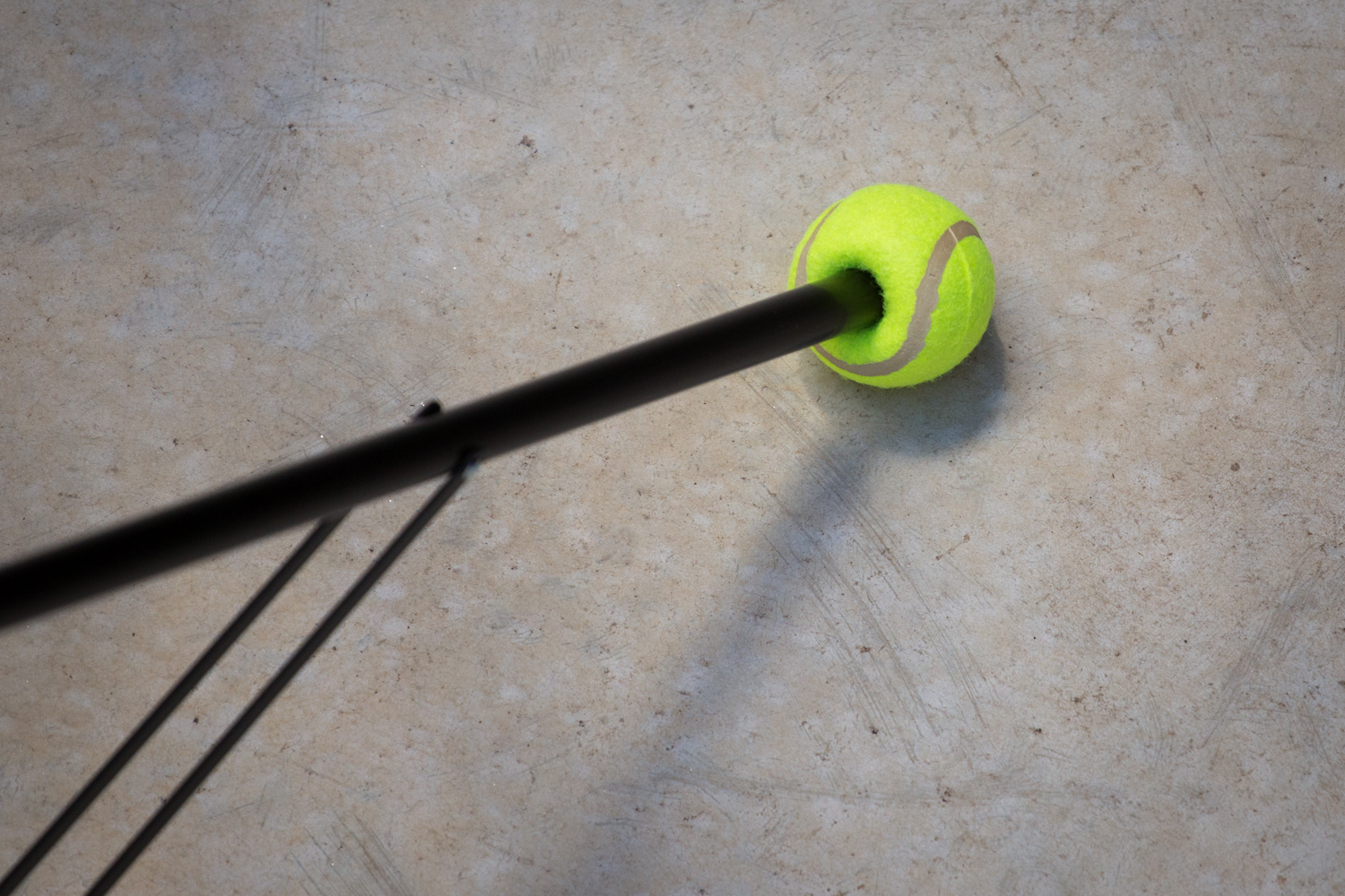 Tennis balls on light stands save floors and clients love you for it.