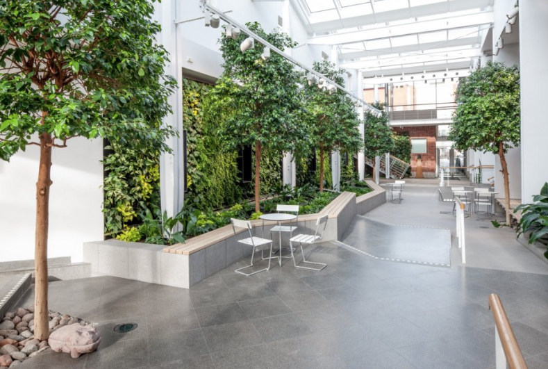 Integrating plants into buildings is not only beneficial for the people who live and work there, it's also a more sustainable approach to design. Image via  Contemporist.