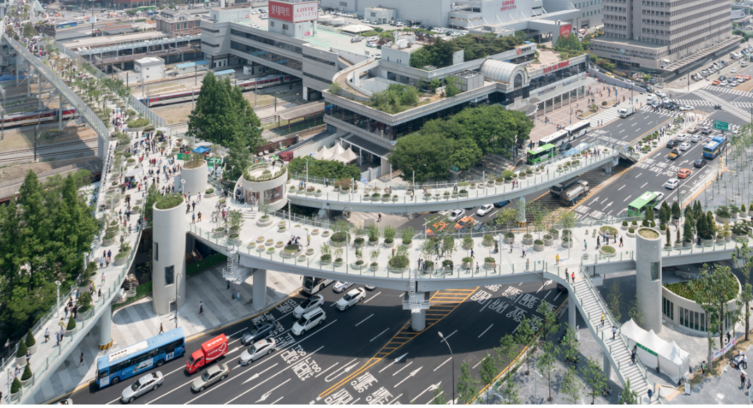 Seoul Skygarden – image via  designboom , photography by Ossip van Duivenbode.