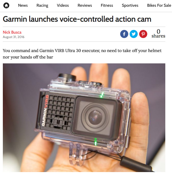 Garmin launches voice-controlled action cam
