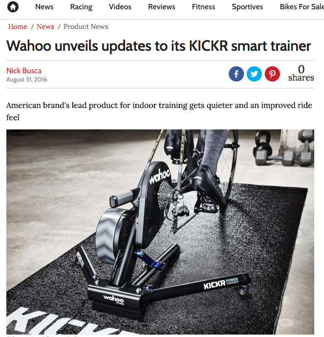 Wahoo unveils updates to its KICKR smart trainer
