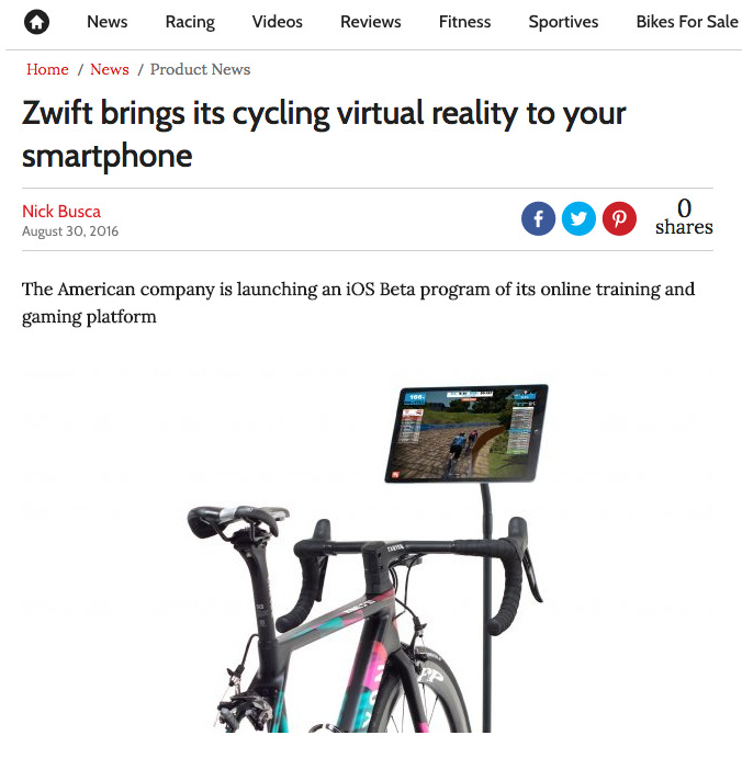 Zwift brings its cycling virtual reality to your smartphone