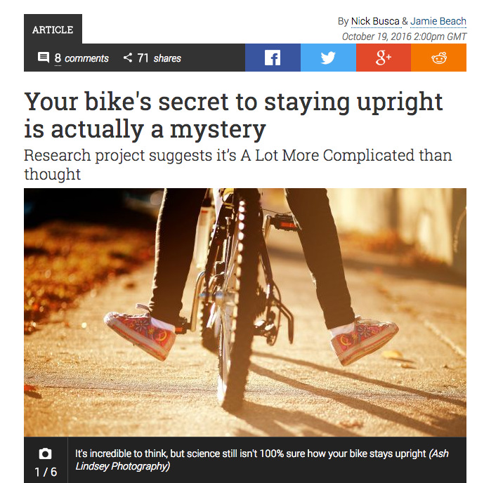 How does a bike stay upright?
