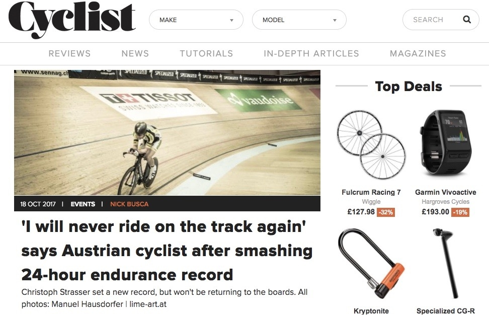 The 24-hour record in a track