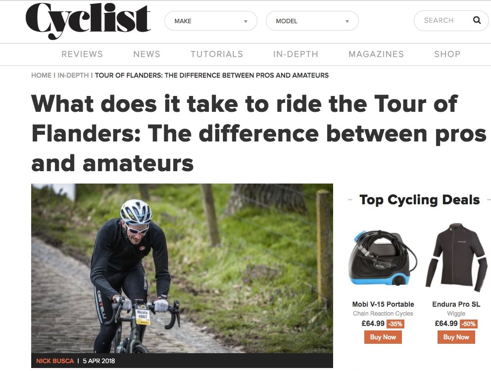 What does it to ride the Tour of Flanders?