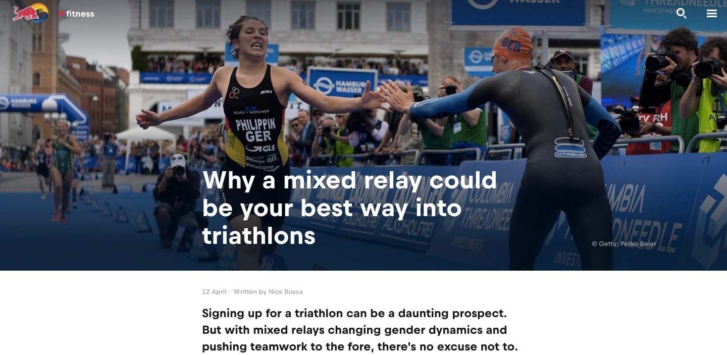 Why you should try a Mixed relay triathlon