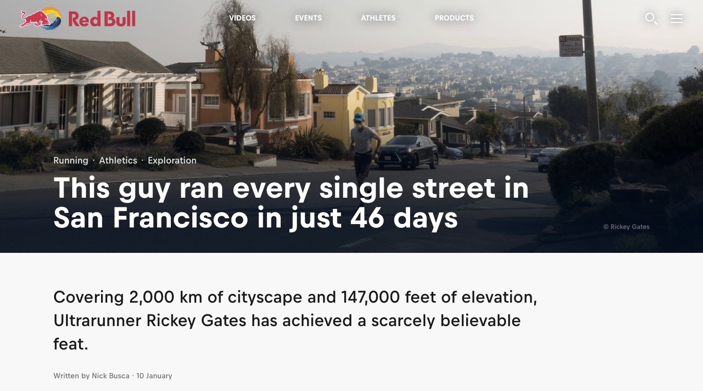 This guy ran every single street in San Francisco