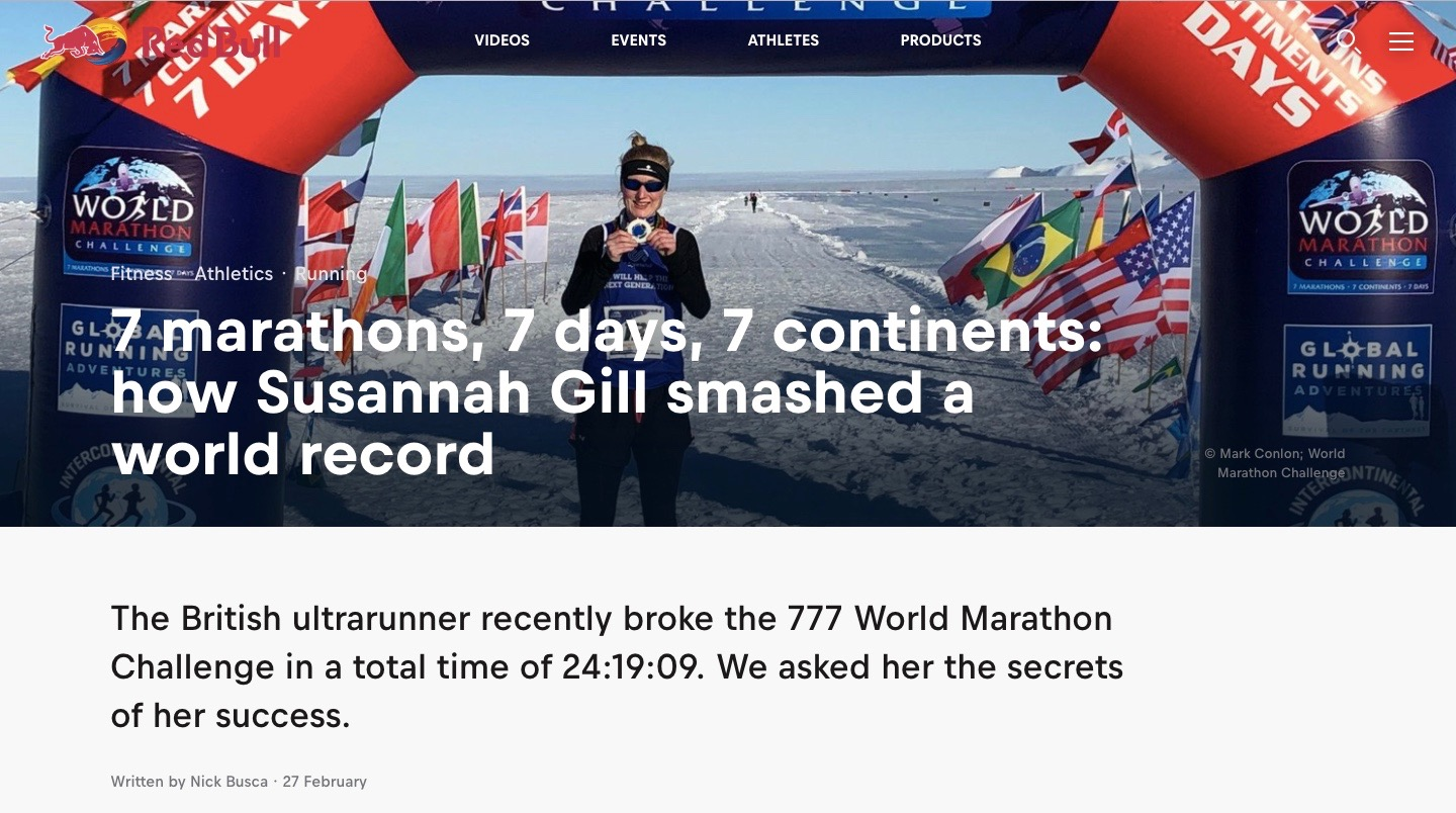 Susannah Gill, the woman who ran 7 marathons in 7 days on seven continents and smashed a world record