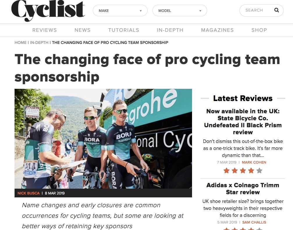 What does it take to build a professional cycling team?