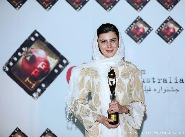 #Leila_Hatami , Best Actress for movie 'I' 6th IFFA  #thegoldenpomegranate  #iffaus  #ليلا_حاتمى #ايفا #انار_طلايى