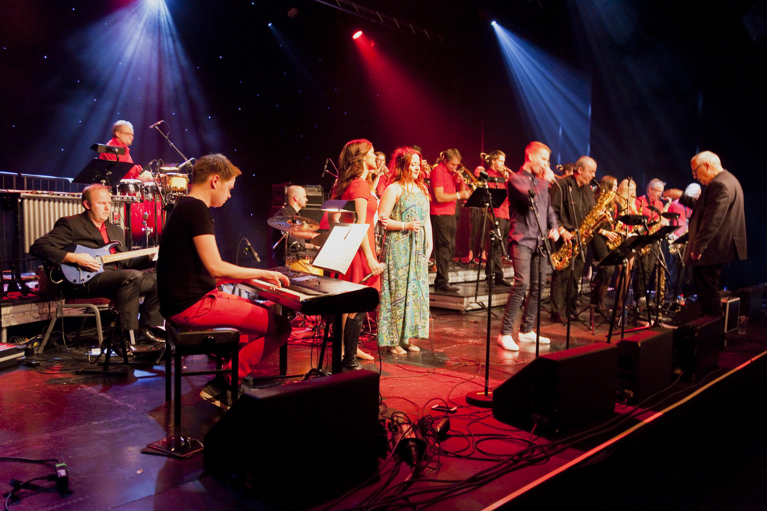 """Big Odd Band har siden starten i 1994 gjort seg bemerket som """"Talentfabrikken på Sunnmøre"""", da svært mange av deres flinke jazzmusikere har """"gått sine ungdomsår"""" nettopp i dette bandet. Big Odd Band har gjestet Romerike Storbandfestival flere ganger tidligere, sist gang i 2015. Foto: Halvor Gudim"""