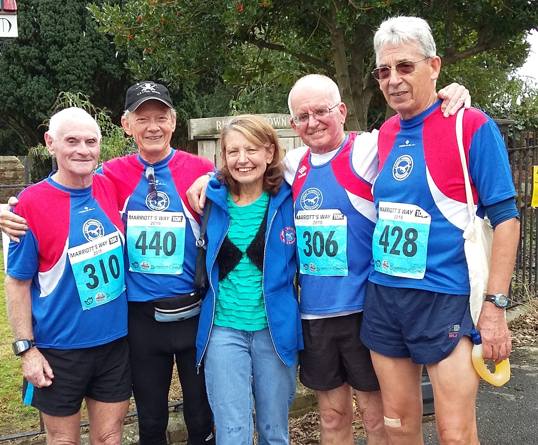 Picture Left to right: Bob Arnell, Chuck Weigand, Carole Spong, Roger Andrews, Jim Spong.