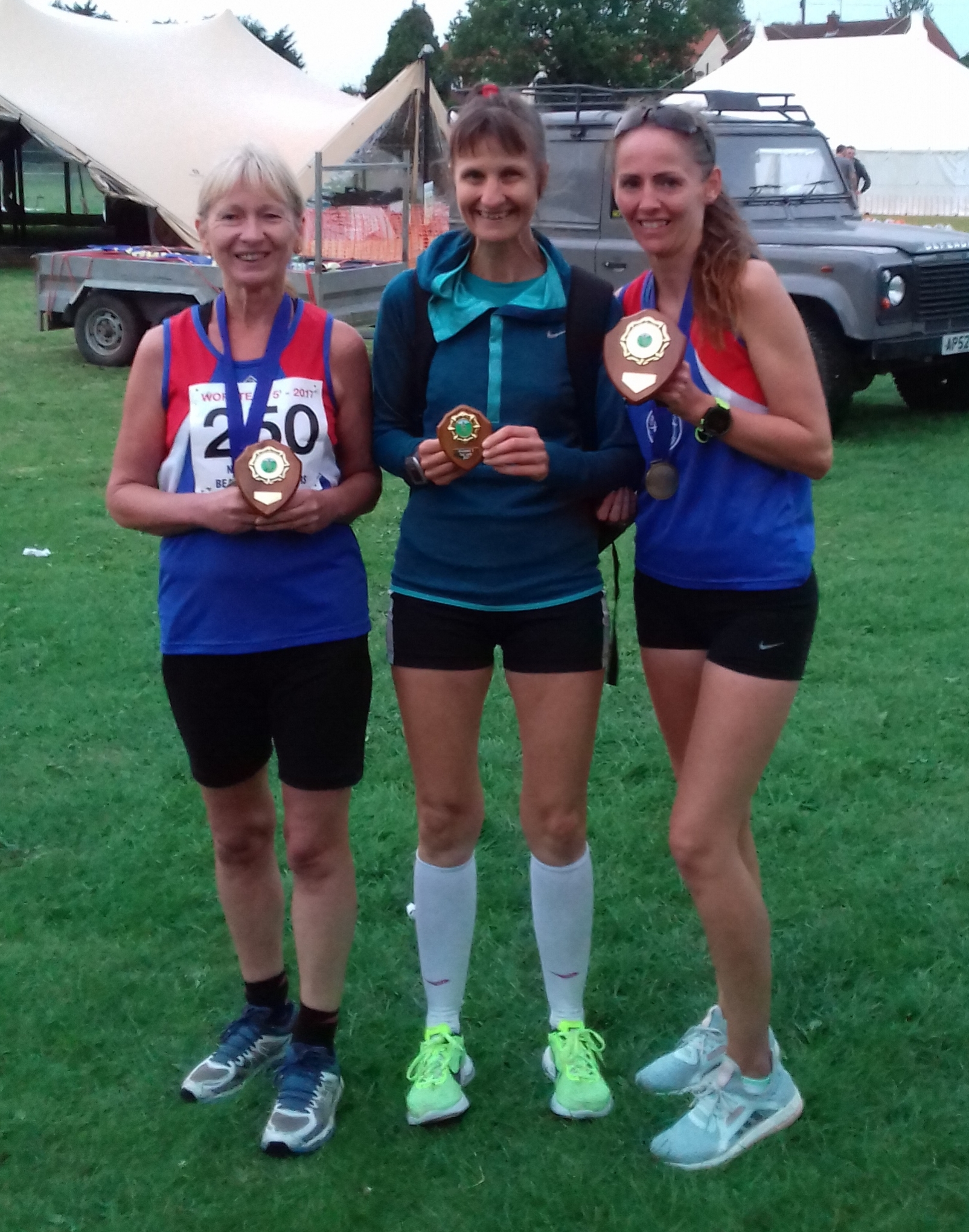 Pauline, Vicky and Penny with their awards.