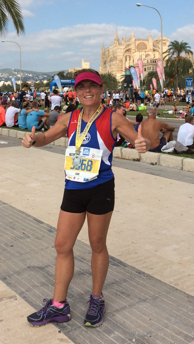 Hot hot hot. Jane looking fresh as a daisy after her half marathon tour of the beautiful Palma.