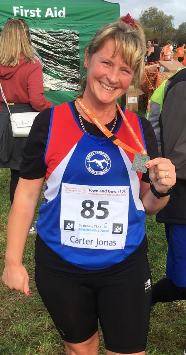Proud as punch.  Ali with her new PB in Cambridge (no First Aid required here!)