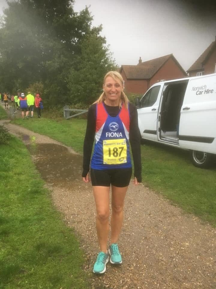 I bet you're all wondering…..what colour were your trainers at the end of the Marriott's Way 10k Fiona?