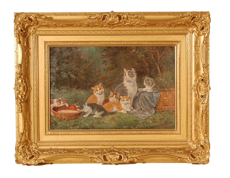 Benedikt Kögl, 1891-1973, Münchner Katzen- u.Stillebenmaler, in vielen Galerien in U, S und D