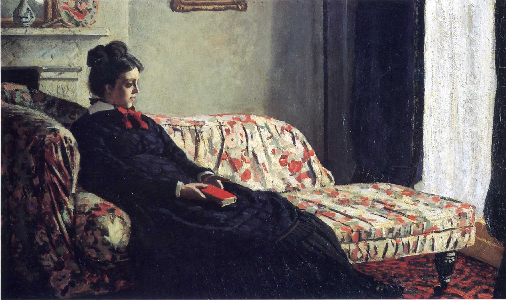 Claude Monet, Meditation, Mrs Monet Sitting on a Sofa - 1870-1871