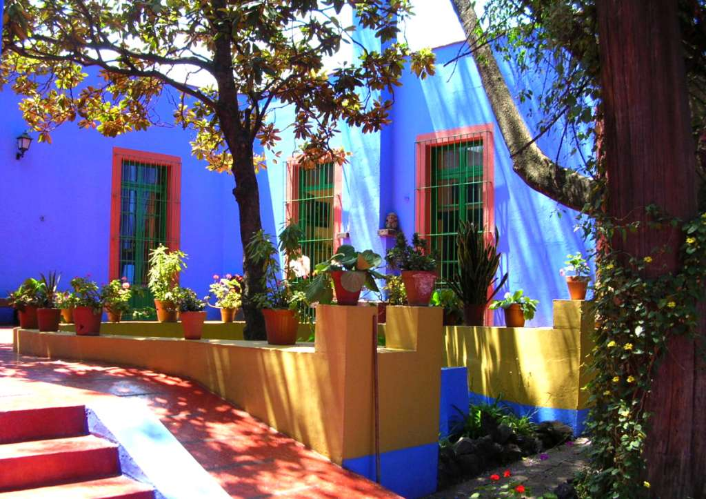 Frida Kahlo Museum - also known as Casa Azul (the Blue House).