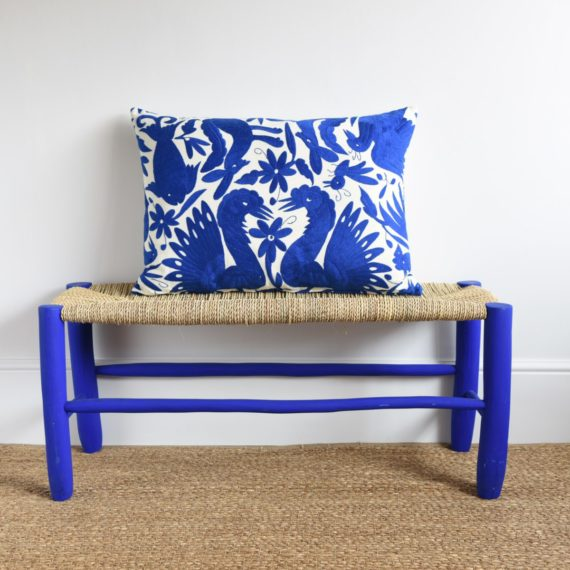 Montes & Clark: Royal Blue Otomi Cushion.