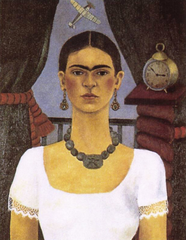 Self Portrait Time Flies, 1929 - by Frida Kahlo
