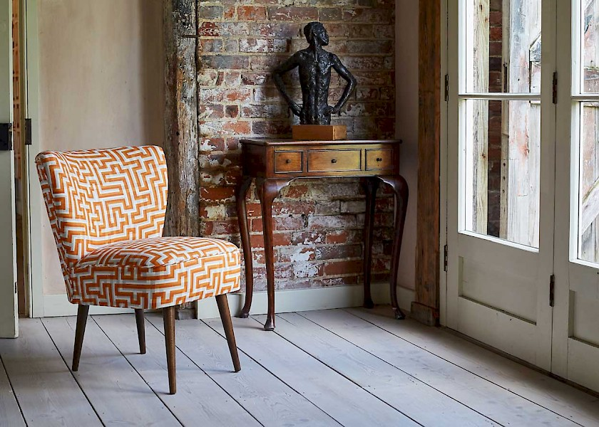 Fabric: Anni Albers at Christopher Farr Cloth - Galapagos Furniture