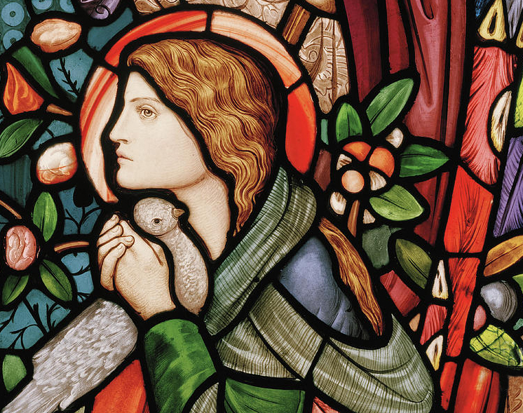 Sir Edward Coley Burne-Jones  Detail from The Annunciation