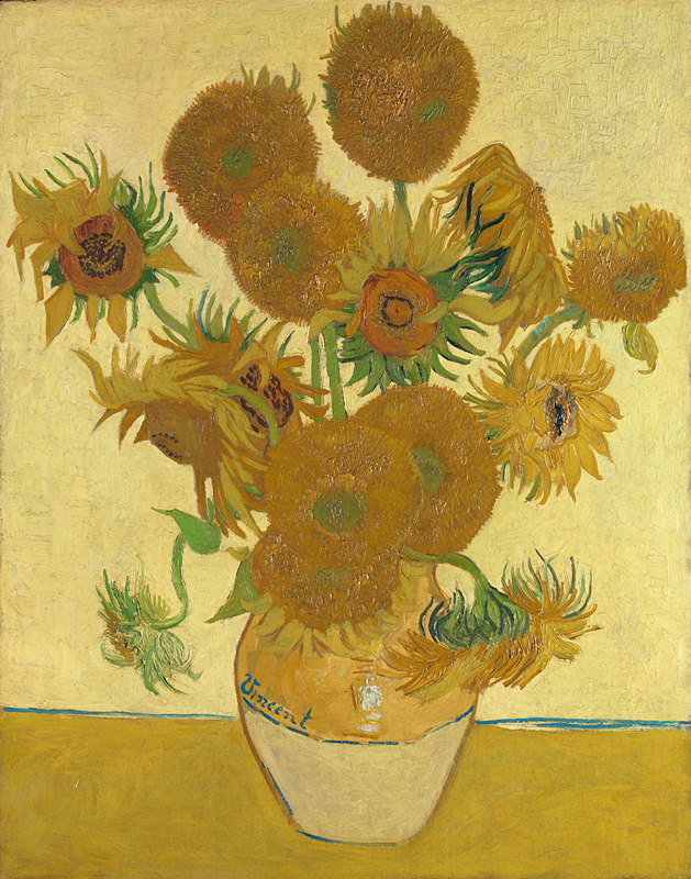 Sunflowers, Vincent van Gogh - 1888