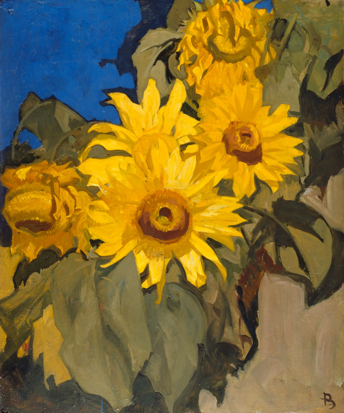 Sunflowers, Sir Frank Brangwyn RA - Early 20c