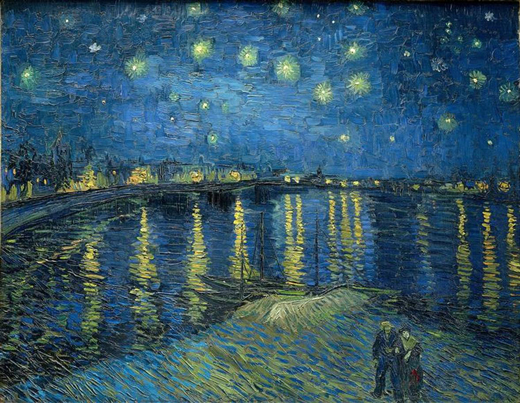 Starry Night over the Rhone, Vincent van Gogh - 1888 Musée d'Orsay, Paris