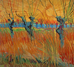 Pollarded Willows, Vincent van Gogh - 1888