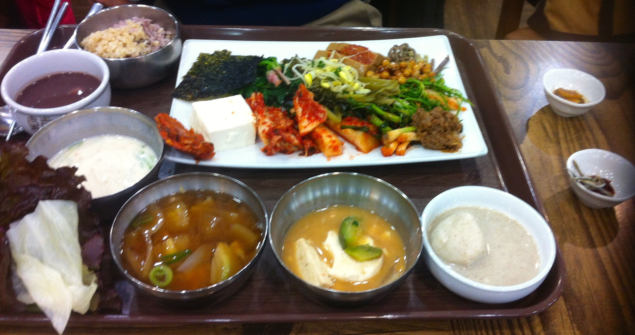 Traditional Korean food very healthy and delicious