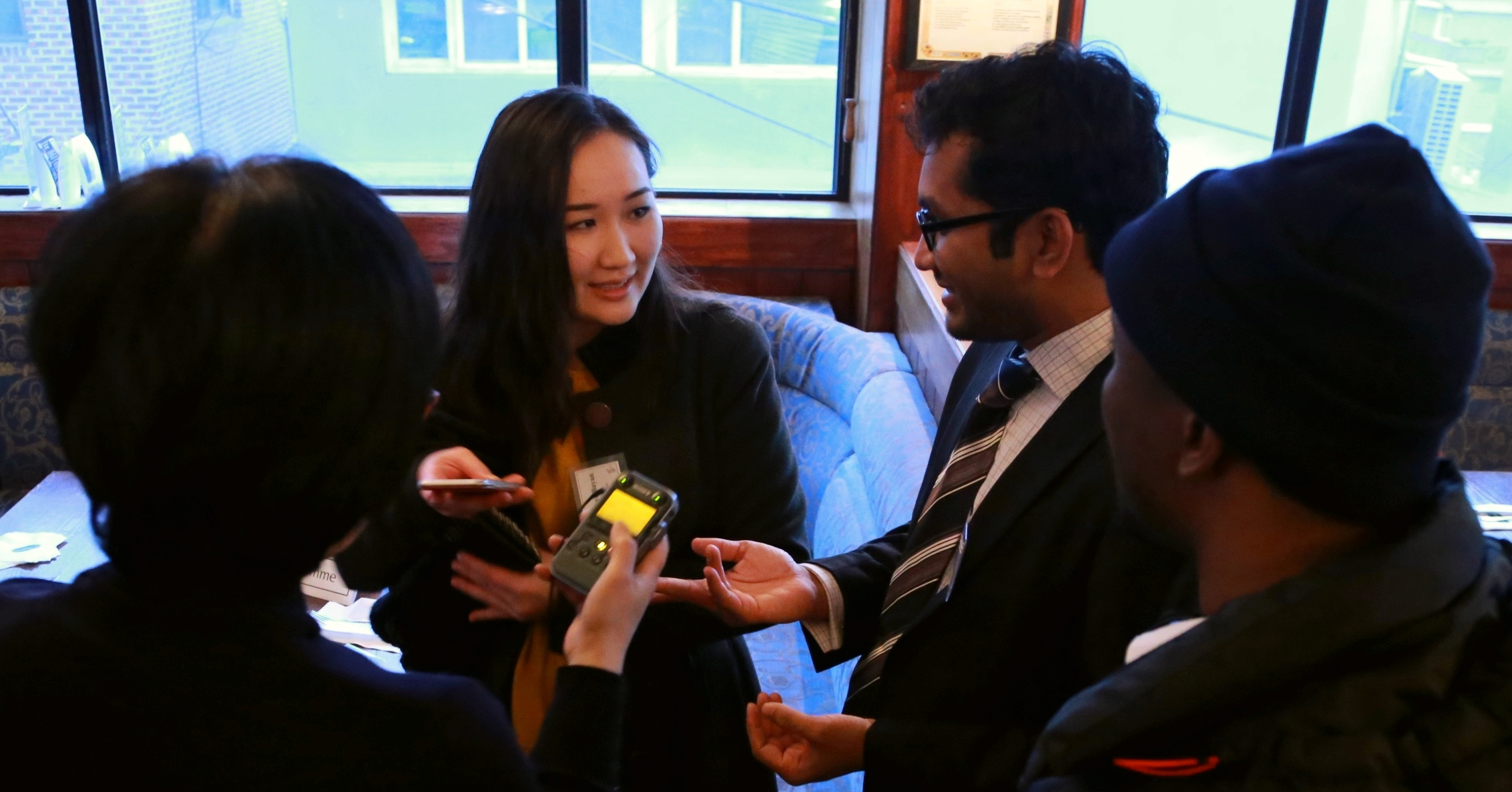 Leadership Fellows interview with KBS World Reporter.