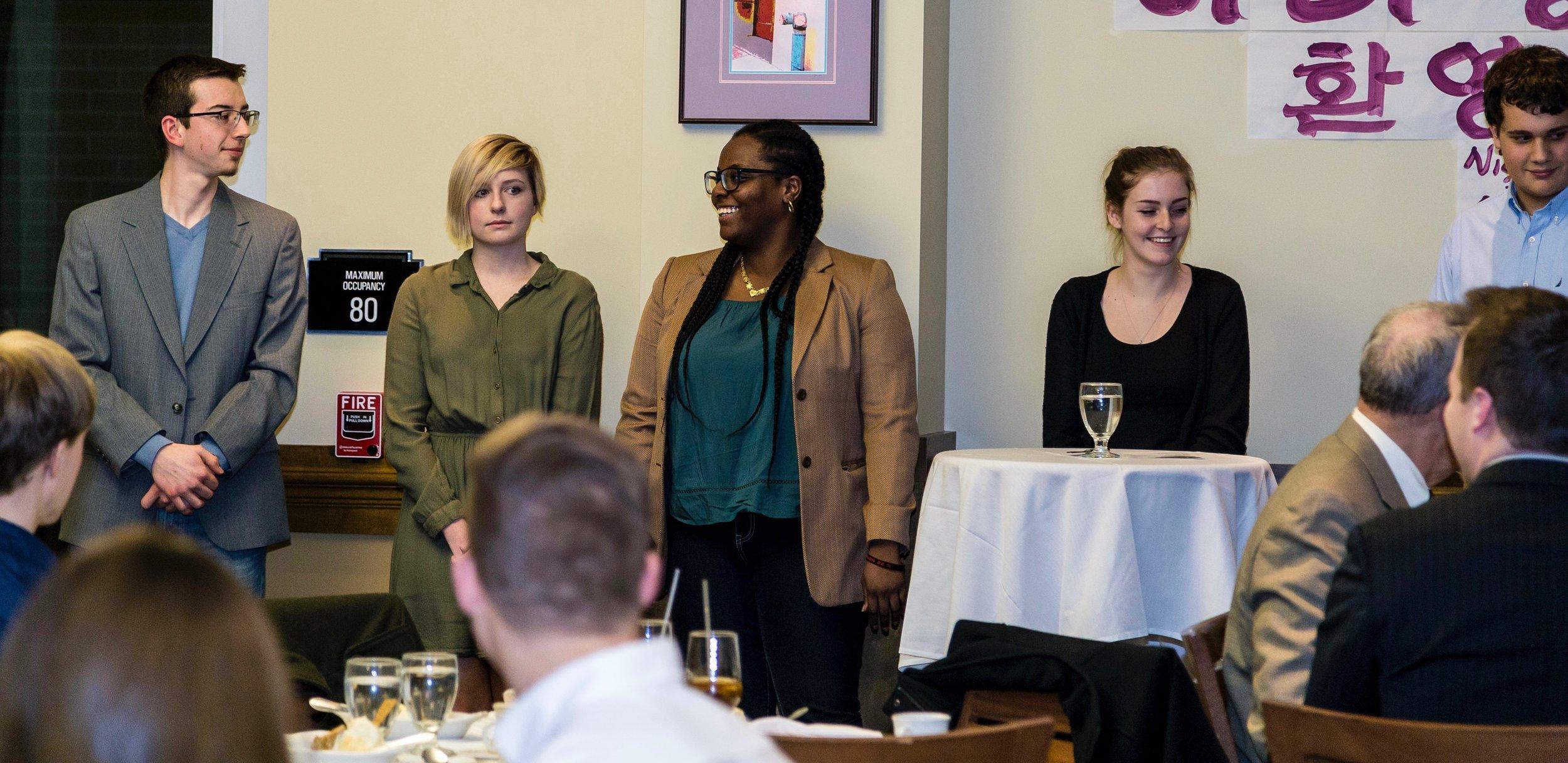 아리랑문화클럽 지도력 팀, From left to right; Bernard Garwig, Hadley May, Jenbli Cox, and Joise Meagher