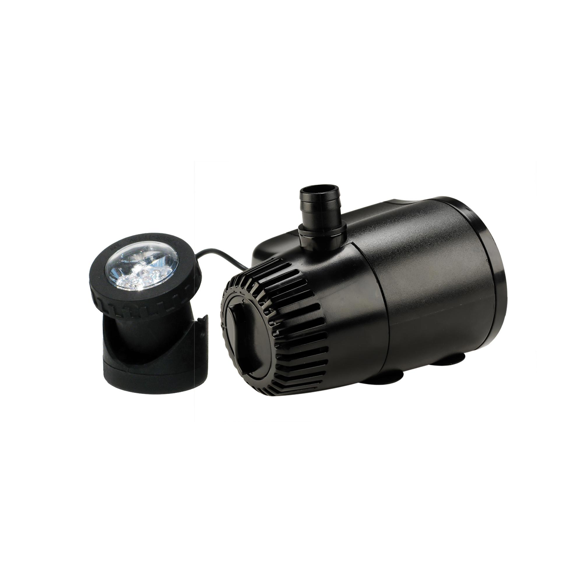 140 GPH Auto Shut-Off Pump with Light